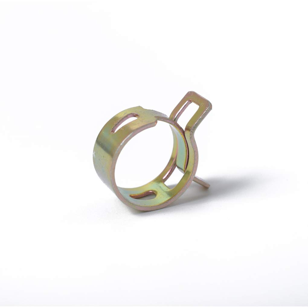 busirde 80PCS 6-15mm 8 Size Car Spring Clip Fuel Line Hose Clip Water Pipe Air Tube Clamp Fastener