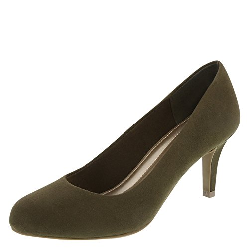 Predictions Comfort Plus Women's Karmen Pump Olive Suede free shipping shop A9Ylo6s