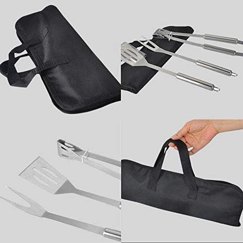 SHOE SLOTZ Ensemble d'outils de barbecue en acier inoxydable professionnel avec sac de marche – Accessoires de barbecue en acier inoxydable épaissi (3 pièces)