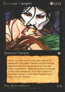 Magic: the Gathering - Krovikan Vampire - Ice Age -