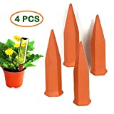 Aochol Plant Watering Devices, 4 PCS Self Plant Watering Spikes Automatic Plant Water Devices Garden Self Watering Spikes for Indoor Outdoor Office Plant