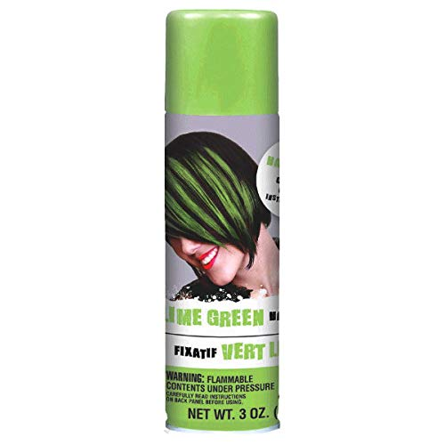 AMSCAN Green Hair Spray Party Supplies, 3 oz, 12