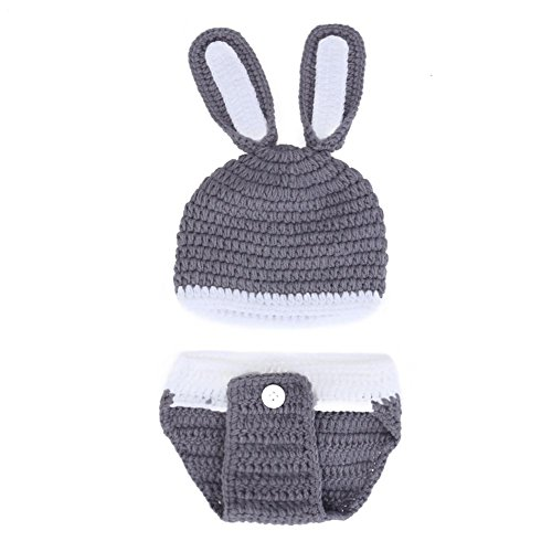 Baby Photography Props,amazingdeal Infant Clothes Rabbit Shaped Hat+Shorts - Crochet Rabbit