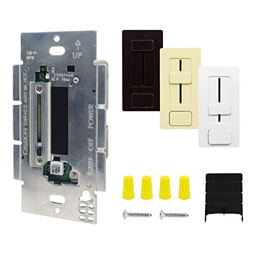 HitLights LED Driver and Dimmer Switch Single Integrated Unit, Switchex 120V AC - 12 V DC 60Watt Wall Dimmer Switch Compatible with Most Solid Color 12V DC Tape Lights and ()
