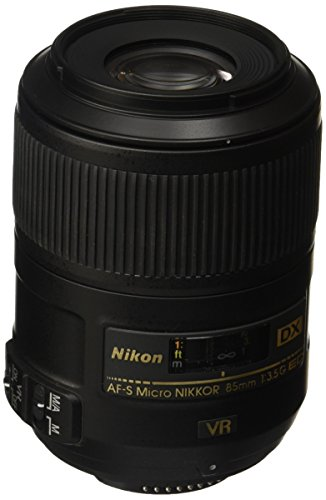 Nikon AF-S DX Micro NIKKOR 85mm f/3.5G ED Vibration Reduction Fixed Zoom Lens with Auto Focus for Nikon DSLR Cameras ()