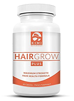 Hair Grow Plus - Scientifically Formulated Hair Growth Supplement with Biotin, All Natural Hair Vitamin Supplement Stimulates Healthy Hair in Both Men and Women, Made in the USA