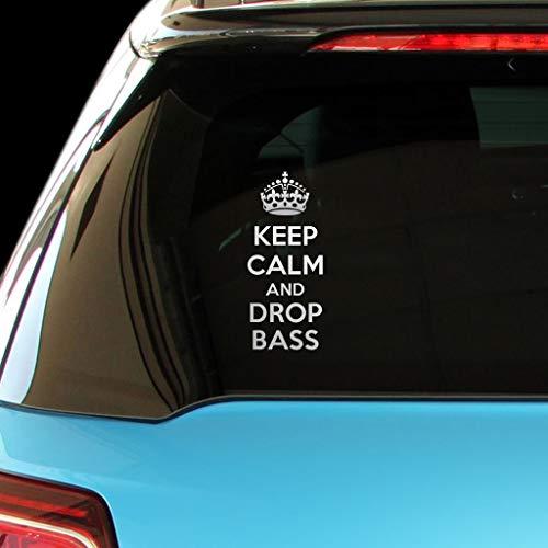 PressFans - Keep Calm and Drop BASS Car Laptop Wall Sticker (Drop The Bass Decal)