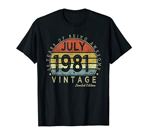 - Born July 1981 Limited Edition Bday Gifts 38th Birthday