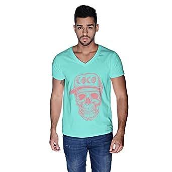 Creo Watermelon Coco Skull T-Shirt For Men - S, Green