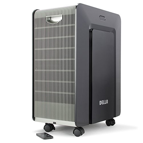 Della Portable Ionic Air Purifier LED Air Cleaner Pure Clean Remove Allergies Dust Odor Mold, Black by DELLA