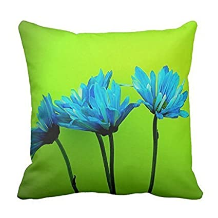 Amazon Com Antysnow Teal Turquoise Daisies Flowers Lime Green