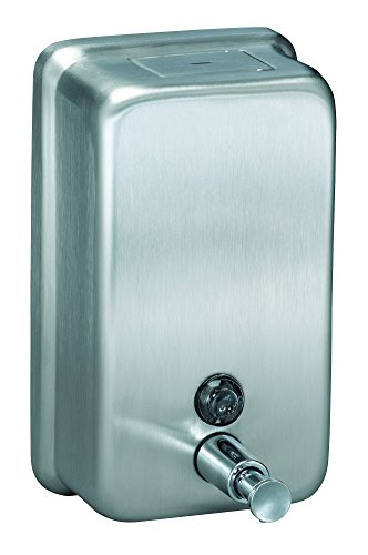 Horizontal Liquid Soap Dispenser - Bradley Corporation 6562-000000 Bradley 6562-000000 Liquid Soap Dispenser, Wall Mount