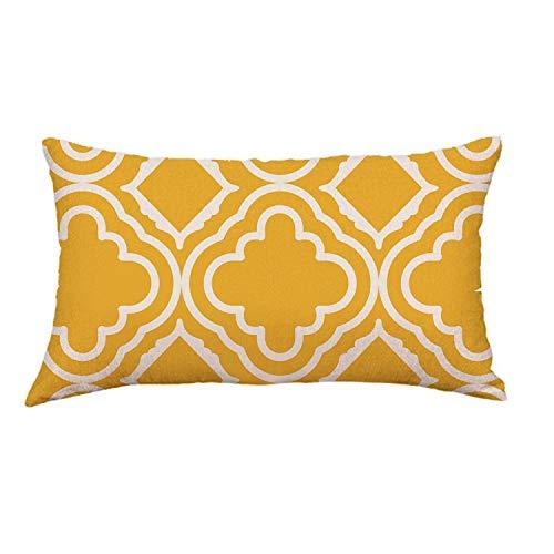 Happiness-Free Pillow Cotton Removable Washable Geometric Lines Geometric Festival Pillow for Neck 45x45cm,D