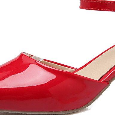 LvYuan Mujer-Tacón Robusto-Otro-Sandalias-Oficina y Trabajo Informal Fiesta y Noche-Cuero Patentado-Negro Rosa Rojo Blanco White