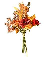 Kaxofang INS Wind Autumn Color Simulation Bouquet Fake Flowers Wedding Decorations Fabric Decorations