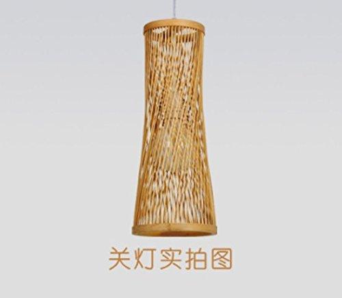CNUAckl Hänge  Pendelleuchten Japanische Bambus Kronleuchter Persönlichkeit  Chinesische Lampe Nordic Holz Schreibtisch Lampe Einfach Kreative