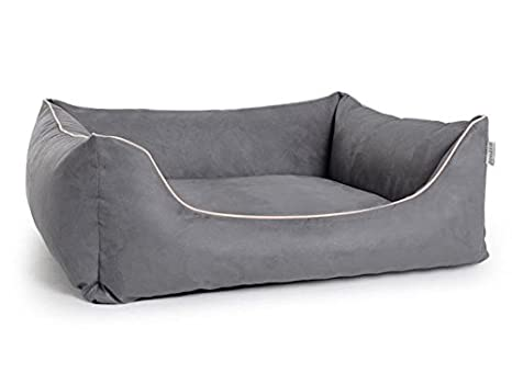 Cama para perros, perro Sofá worldcollection antelina/Velour en gris 5 Tamaños, impermeable, antimanchas, ortopédica, Memory foam: Amazon.es: Productos para ...