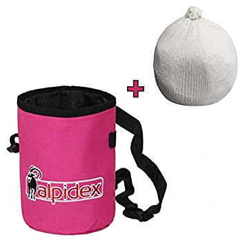Pack ahorro: Bolsa de magnesia HIGHFLY color Pink Power + Bola de magnesia 35 g