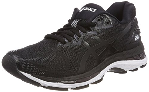 ASICS Women's Gel-Nimbus 20, Black/White/Carbon, 26 cm