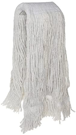 Zephyr Blendup 4-Ply Blended Natural and Synthetic Fibers Cut End Wet Mop Head with Wide Band Fantail (Pack of 12)