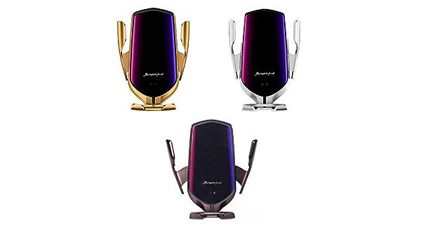 estaci/ón de Carga inductiva Acecoree Soporte para tel/éfono m/óvil de Aire Compatible con Todos los Smartphones 10 W Cargador autom/ático para Coche Cargador inal/ámbrico para Coche