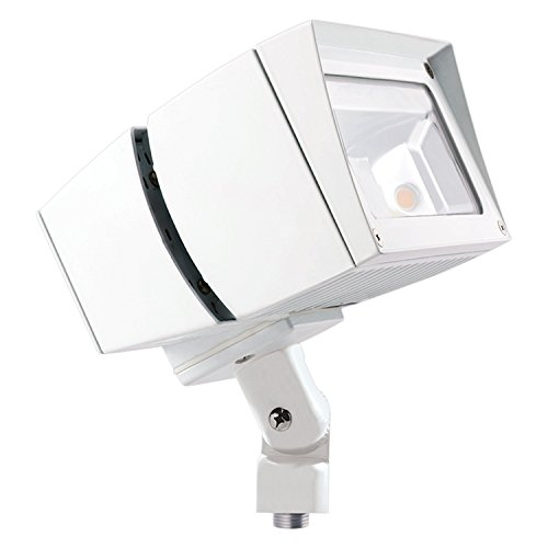 Warm RAB Lighting FFLED26YW//D10 LED Floodlight 3000 K White Finish 1101981 26W Arm Mounted Color Temp NEMA 7H x 6V Beam Spread Dimmable Type