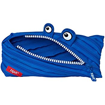 Amazon Com Zipit Monster Pencil Case Royal Blue Office Products