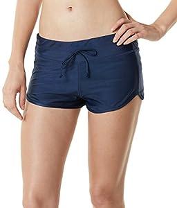 Tesla Women's Tankini Shorts Swimsuit Quick Dry Water Beach Board Bottom FSB04/FSB03/FSB01/FSB02