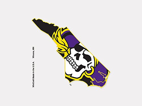 East Carolina Pirates Official NCAA 4 inch x 4 inch Die Cut Car Decal by Wincraft