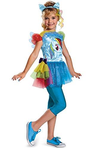 (Hasbro's My Little Pony Rainbow Dash Classic Girls Costume,)