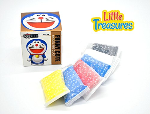 Little Treasures Hero characters with molding play-dough kit  a fun arts and craft kids artist toy project Clay modeling and sculpting DIY play-set  create your 3D theme favorite cartoon