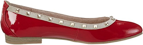 Rouge 22113 Marco 543 Tozzi Ballerines chili Femme Comb 675wI5Zxqr