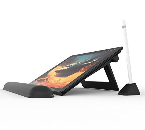 Integral Stand (Elevation Lab DraftTable Kit For iPad Pro - Adjustable stand for iPad Pro & Pencil, designed for professionals and designers. Includes PencilStand & ArmRest)