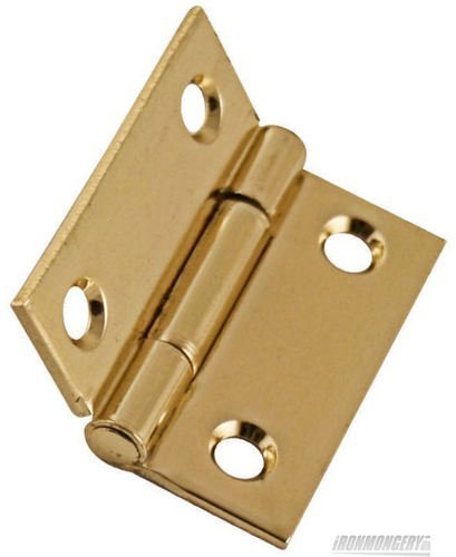 50mm 2'' No.1838 Light Butt Hinges 1 Pair ELECTROPLATED BRASS FINISH Perry Hinges