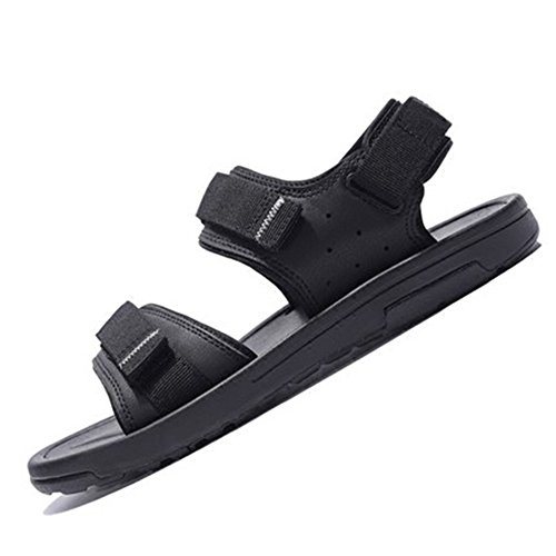 Sandals MAZHONG Men's Beach Shoes Youth Sports Soft Bottom Casual Men's (Color : Black-EU43/UK9/CN44) Black-eu43/Uk9.5/Cn45 oFS6lgWa
