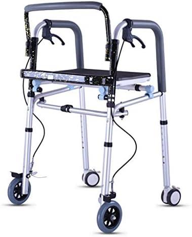 ZXCMNB Älterer Walker, Riemenrad, Sitzender, Behinderter Walker, Vierbeiner, Allrad, Bremskraftverstärker