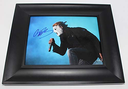 Slipknot .5: The Gray Chapter Corey Taylor #8 Signed Autographed 8x10 Glossy Photo Gallery Framed Loa ()
