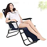 garden mile® Twin Pack Of Black Textoline Zero Gravity Sun Loungers Garden Chairs - Set of 2 Folding & Reclining Deck Chairs - Sun Bed Patio, Conservatory, Garden