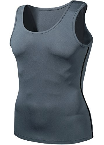 TM-N15-GRKZ_Large j-XL Tesla Men's Cool Dry Compression Baselayer Sleeveless N15 (Cold Gear Tank compare prices)