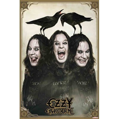 Ozzy Osbourne Crows Music Poster