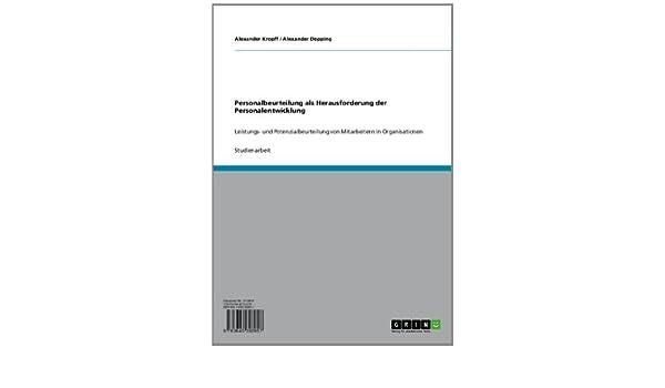 Amazon.com: Personalbeurteilung als Herausforderung der ...