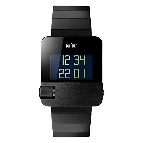 Braun Men's BN0106BKBTG Prestige Digital Digital Display Swiss Quartz Black Watch