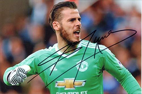DAVID DE GEA Signed 6 X 4 Inch Soccer Photograph. Genuine Autograph. COA! Free Frame!