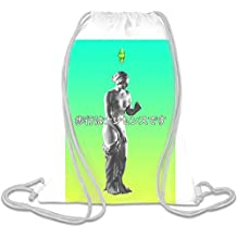 walking is nonsense Custom Printed Drawstring Sack | 100% Soft Polyester| 5 Liter Capacity| Adjustable String Closure| The Stylish Bag For Every Day Use| Custom Bags By Bang Bangin