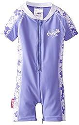 Baby Banz Baby Girls\' Banz One Piece Swim Suit, Lavender Floral, 12 18 Months