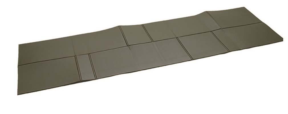 BW ISO MAT FOLDABLE 190X60X0 5 CM OLIVE Mil - Tec 4054423
