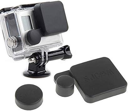 Cubre Lente Camara Digital Tapa Protectora de la Tapa de la Lente de la cámara de protección BDTH + Cubierta de la Caja de la Carcasa para la cámara Deportiva SJ4000: Amazon.es: