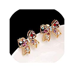 Butterfly Design Luxury Crystal Stud Earrings