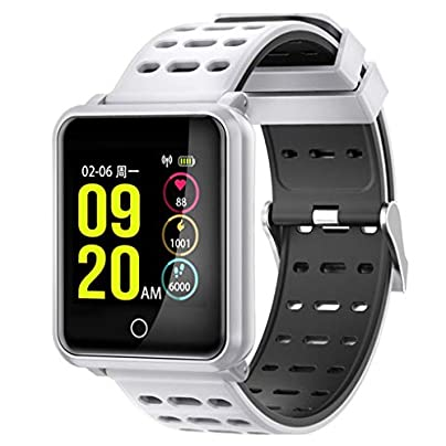 Ruiboury Bluetooth IP68 Waterproof Heart Rate Blood Pressure Smart Wristband Blood Oxygen Sport Bracelet Estimated Price £22.49 -