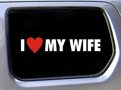 1-Pcs Preeminent Popular Funny I Love My Wife Car Stickers Truck Badge Family Married Joke Decor Size 1.6 x 8